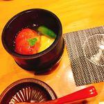 地鶏炭火焼 鶏樹 - トマトのジュレ