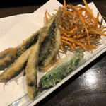 すしバル ちこり - 稚鮎の天ぷら
