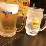 炭火焼肉 太陽 - 生ビール、レモンソーダ