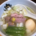 中華そば 満鶏軒 - 料理写真:味玉鴨中華そば(塩) 950円