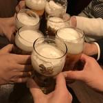 87602548 - 生シンハービールで乾杯