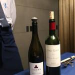 鉄板焼き 貴真 - 赤ワインのチョイス