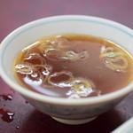 87603361 - 【半チャーハン@税込450円】スープ
