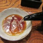竹泉 - 綺麗に伸びる蕎麦湯