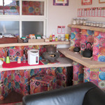 茶釜 セルフカフェ エルモット - ドリンクバーのカウンターです。