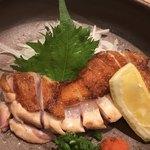 炭火焼鳥 きち蔵 - 料理写真:稲垣種鶏場 名古屋コーチン ももたたき