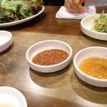 とんちゃん - お味噌とごま油