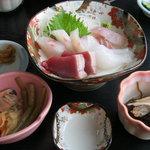 魚幸 - 魚幸定食(お刺身)