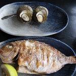 魚幸 - 魚幸定食(サザエのつぼ焼きと焼き魚)