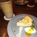 87611296 - レモンレアチーズケーキ カフェオレ