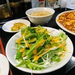 中国料理 四川 - 定食のサラダ