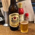 やきとり 戎 - 大瓶ビール サッポロ(590円)