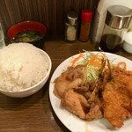 87618932 - アジフライ&生姜焼き(2018.06)