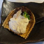 8762292 - 肉味噌とざる豆腐 濃厚でそのまま食べても美味しい豆腐でした