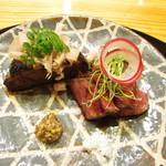 玄斎 - 照り焼き風のタレで焼いた宮崎牛と賀茂茄子