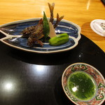 玄斎 - 琵琶湖の鮎の塩焼き