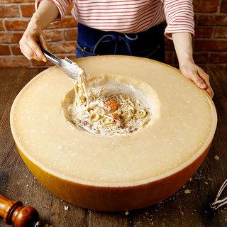 濃厚なまるごとグラナチーズのカルボナーラ!