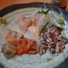 寿司・料理・地酒 はらこ - 料理写真:刺身盛(一部手をつけた後)