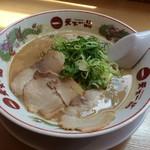 87632979 - H.30.4.29.昼 天津飯セット 980円のこってりラーメン
