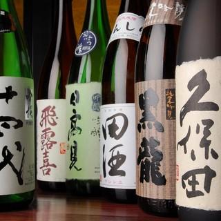 宮城の地酒が常時15種類以上ご用意♪