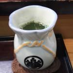 幸鮨 - お茶、巾着風の湯飲み茶碗