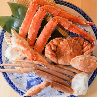 本タラバ・ズワイ・毛蟹。北海道の海の幸代表、三大蟹を堪能
