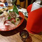 87638654 - 刺し盛り&日本酒