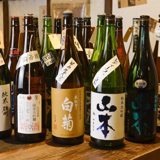 週替わりの日本酒は20種以上!自家製レモンサワーもオススメ♪