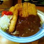 Karenoshiminaruba - カツカレー+海老フライ 930円