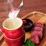 【肉オプション】トリュフ香る!チーズソース