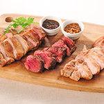 3種ステーキ盛り合わせ「ビストロプレート」