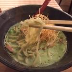Membisutoronakano - 枝豆とほうれん草のポタージュ麺