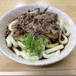 山口屋 - 「肉伊勢うどん」750円+「大盛」100円