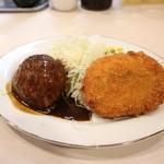 洋食 おなじみ - ハンバーグとコロッケ☆ 2018-0614訪問