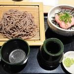 水戸庵 - ミニねぎとろ丼セット 980円