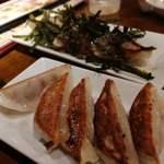 餃子バル 餃子家 龍 - 塩レモン餃子と赤しそ広島菜餃子