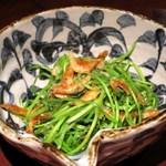 87664440 - 水蓮菜と桜エビの炒め