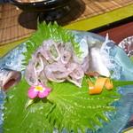 美濃吉 - コースとは別で、鮎の背越しも注文!つけダレが香り高い!