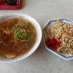 入船食堂 - 料理写真:中華そば+焼きめし