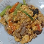 香香 - 料理写真:豚肉とキクラゲと玉子炒め