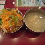 ヒラ - サラダとスープ