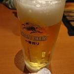 炭火七輪 炭きち - 生ビール