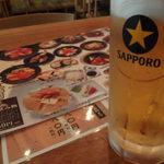 札幌銀鱗 - とりえあずビール(やっぱりサッポロ♪)