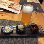 87675221 - ビール頼んだらコレ付いて来た、有料(@_@)