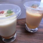 87680978 - 食べるスープ アスパラの爽やか風味(390円+税)&食べるスープ うにのなめらか風味(390円+税)