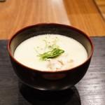 朝食 喜心 - ☆汁物 京白味噌の豚汁