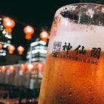 大阪駅前第一ビル 神仙閣ビアガーデン - ドリンク写真