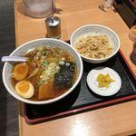 福しん - 手もみラーメン+半チャーハンセット