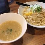 87688158 - 【再訪】つけそば鶏白湯スープ(中盛)