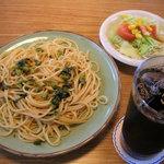 りんご亭 - 野沢菜スパゲッティ